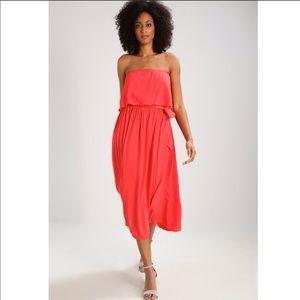 Gap Hula Red Off Shoulder Crepe Dress New